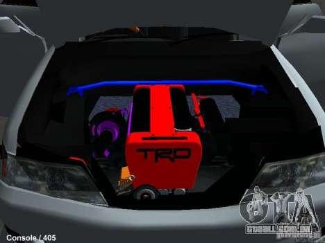 Toyota Mark II 100 1JZ-GTE para GTA San Andreas vista traseira