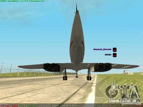 Concorde [FINAL VERSION] para GTA San Andreas traseira esquerda vista