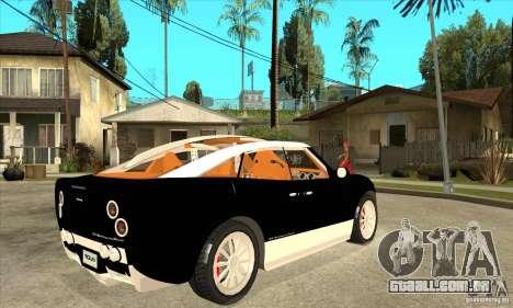 Spyker D8 Peking-to-Paris para GTA San Andreas vista direita