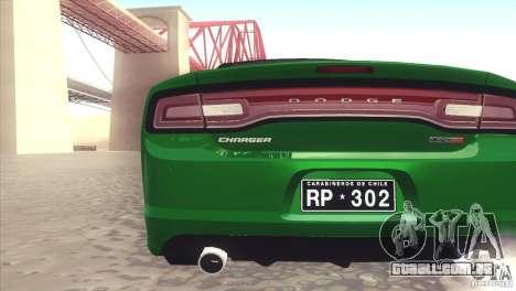 Dodge Charger SRT8 Carabineros para GTA San Andreas vista direita