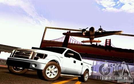 Ford Lobo 2012 para GTA San Andreas traseira esquerda vista