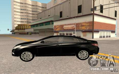 Hyundai Sonata 2012 para GTA San Andreas vista interior