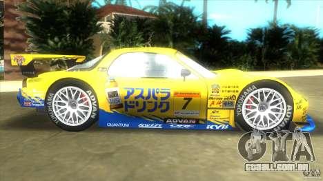Mazda Re-Amemiya RX7 FD3S Super GT para GTA Vice City deixou vista