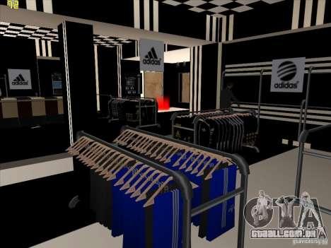 Substituição completa da loja Binco Adidas para GTA San Andreas quinto tela