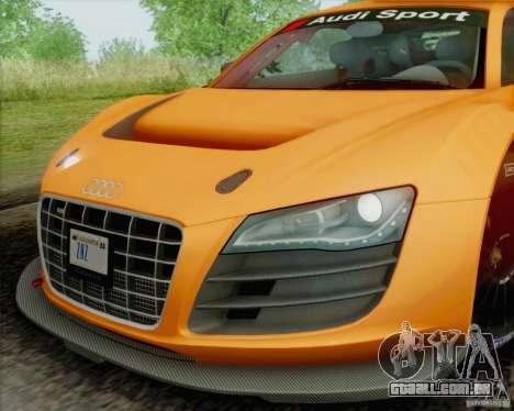 Audi R8 LMS GT3 para GTA San Andreas vista traseira