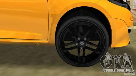 Renault Megane 3 Sport para GTA Vice City vista superior