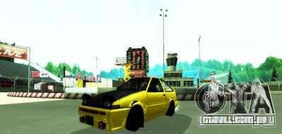 NFS:Shift Drift Tracks para GTA San Andreas segunda tela
