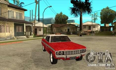AMC Matador Taxi para GTA San Andreas vista traseira