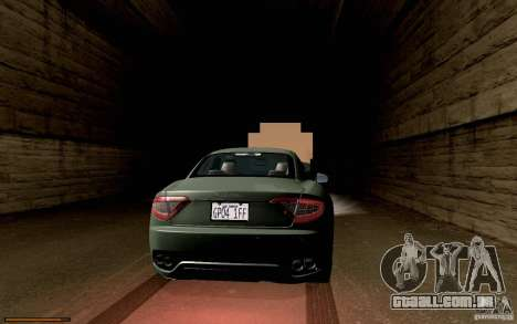 Maserati Gran Turismo 2008 para GTA San Andreas vista interior