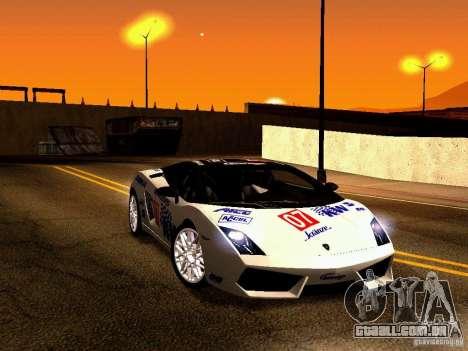 Lamborghini Gallardo LP560-4 para GTA San Andreas vista superior