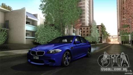 BMW M5 F10 2012 para GTA San Andreas vista superior