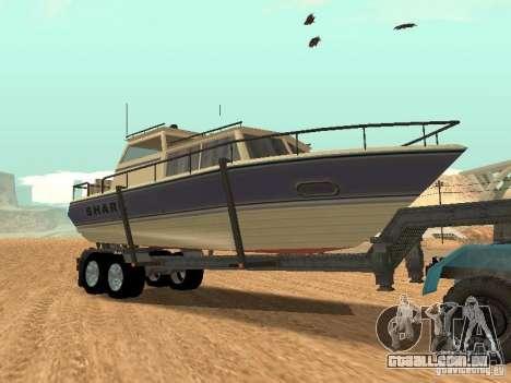 Boat Trailer para GTA San Andreas vista traseira