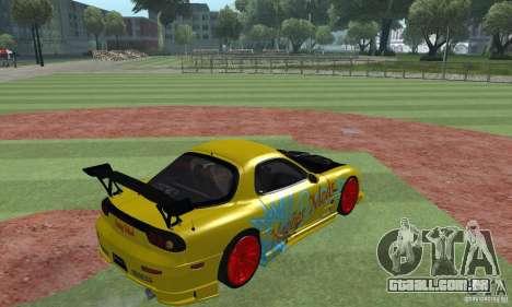 Mazda Rx7 para GTA San Andreas vista traseira