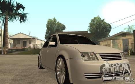 Volkswagen Bora PepeUz Edition para GTA San Andreas vista traseira
