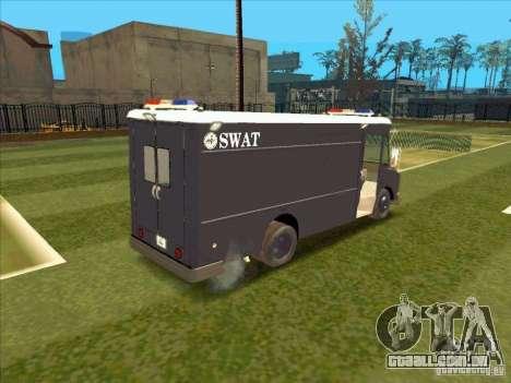 Swat Van from L.A. Police para GTA San Andreas vista traseira