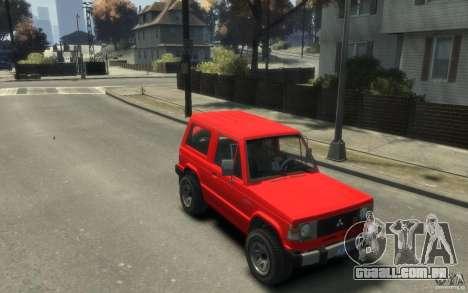Mitsubishi Pajero I para GTA 4 vista direita