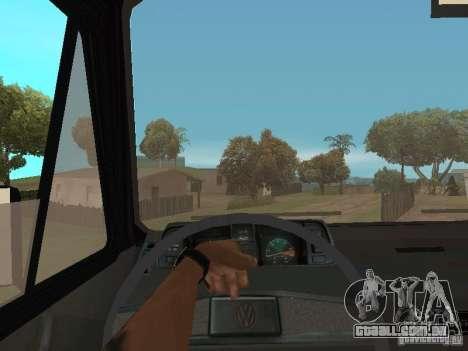 Volkswagen Transporter T3 para GTA San Andreas vista interior