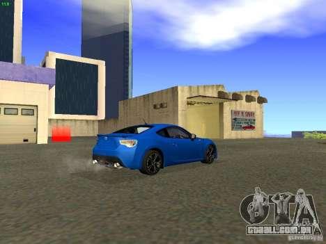 Toyota GT86 Limited para vista lateral GTA San Andreas