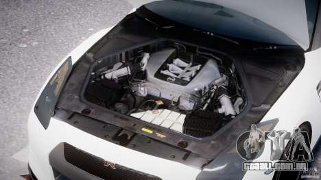 Nissan GTR R35 SpecV v1.0 para GTA 4 vista superior