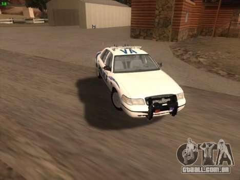 Ford Crown Victoria Vancouver Police para o motor de GTA San Andreas