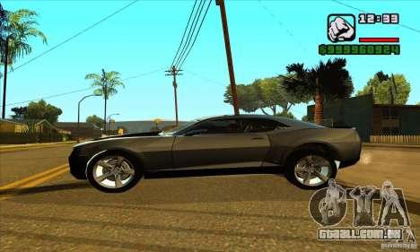 Chevrolet Camaro Concept Z06 2007 para GTA San Andreas vista direita