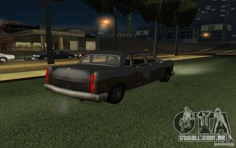 Civilian Cabbie para GTA San Andreas vista direita