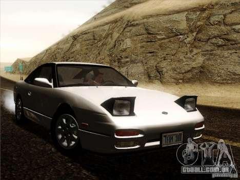Nissan 240SX S13 - Stock para GTA San Andreas vista traseira