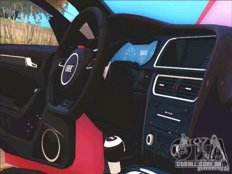 Audi RS4 Avant B8 2013 para GTA San Andreas vista interior
