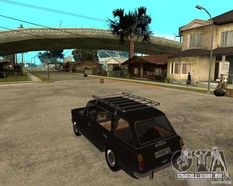 2102 Vaz para GTA San Andreas esquerda vista