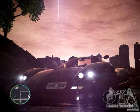 Pagani Zonda C12S Roadster para GTA 4 vista direita