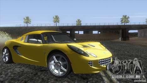 Lotus Elise para GTA San Andreas vista direita