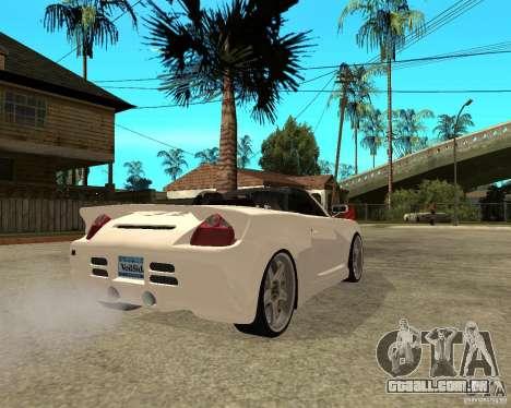 Toyota MRS2 Veilside para GTA San Andreas traseira esquerda vista