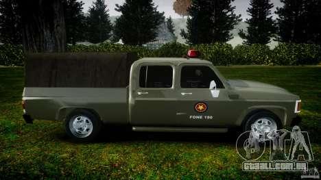 Chevrolet D20 Brigada Militar RS para GTA 4 esquerda vista