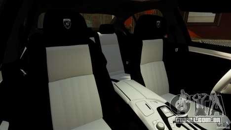 BMW M5 F10 2012 Hamann para GTA 4 vista de volta