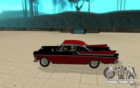 Dodge Lancer 1957 para GTA San Andreas esquerda vista
