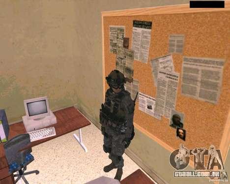Pele do soldado do Cod MW 2 para GTA San Andreas segunda tela