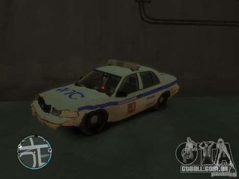 Ford Crown Victoria polícia para GTA 4 vista de volta