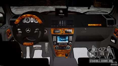 Mercedes Benz G55 AMG Final para GTA 4 vista superior