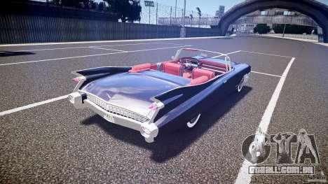 Cadillac Eldorado 1959 interior red para GTA 4 vista superior