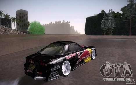 Mazda RX7 Madmikes Redbull para GTA San Andreas vista traseira