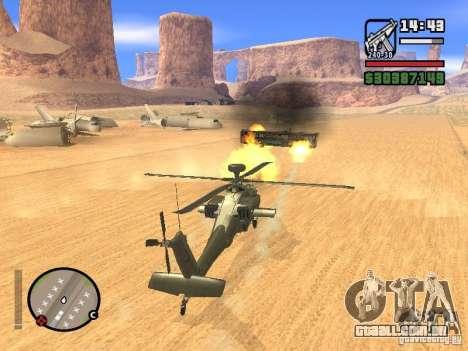 AH-64D Longbow Apache para GTA San Andreas vista inferior