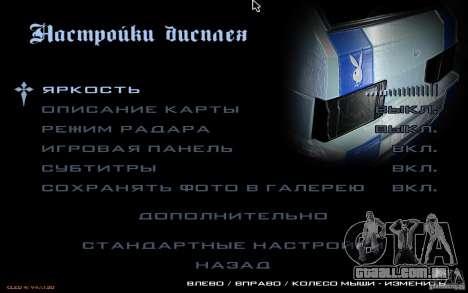 O menu do jogo GTA Nogaystan para GTA San Andreas sexta tela