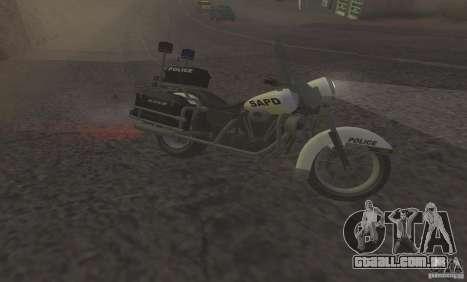 Motocicleta de polícia de GTA TBoGT para GTA San Andreas esquerda vista