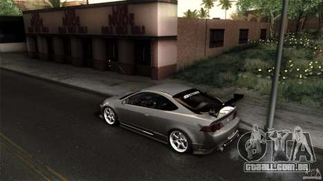 Acura RSX Spoon Sports para GTA San Andreas vista interior