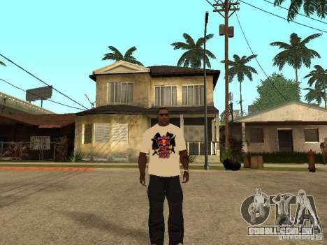 T-Shirt Red Bull para GTA San Andreas