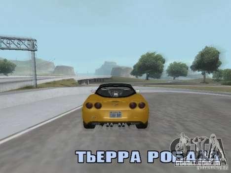 Camera Shake para GTA San Andreas por diante tela