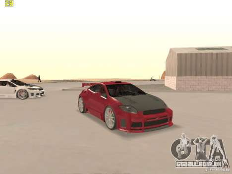 Mitsubishi Eclipse GT NFS-MW para GTA San Andreas vista inferior