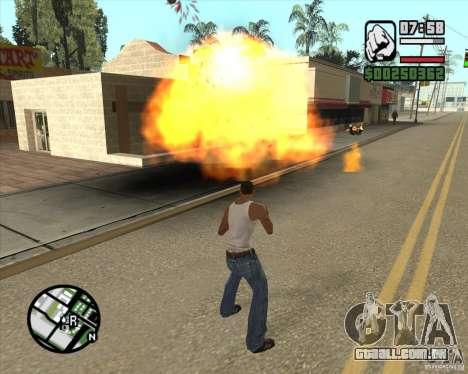 Explosão (versão para notebooks sem teclado numé para GTA San Andreas