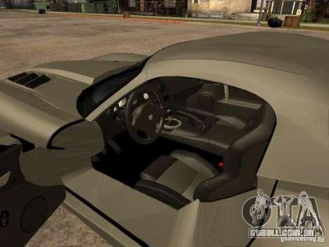 Dodge Viper para GTA San Andreas vista traseira