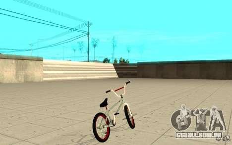 REAL Street BMX mod Chrome Edition para GTA San Andreas traseira esquerda vista